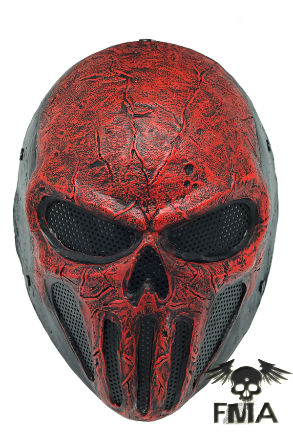 "FMA Wire Mesh ""SKULL PUNISNER"" RED Mask tb574 - MASK - FMA.HK"