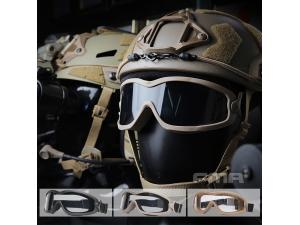 FMA JT Spectra Series Goggle with sigle/double layer BK/DE/TAN TB1314
