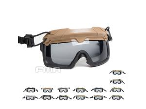 FMA Tactical Helmet Safety Goggles GRAY TB1333-G