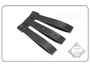 "FMA 5""Strap buckle accessory (3pcs for a set)Mass Grey  TB1031-MG"