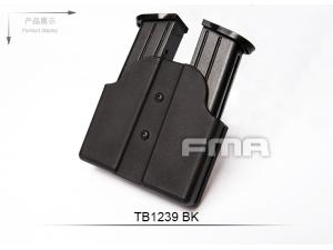 FMA Double Magazine Case , Belt Model BK  TB1239-BK