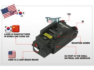 Target One DBAL-PL with LED white light founction + Laser with indicate IR founction (Plastic version)