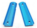 CNC Aluminium 1911 MEU Grip Cover (Blue)