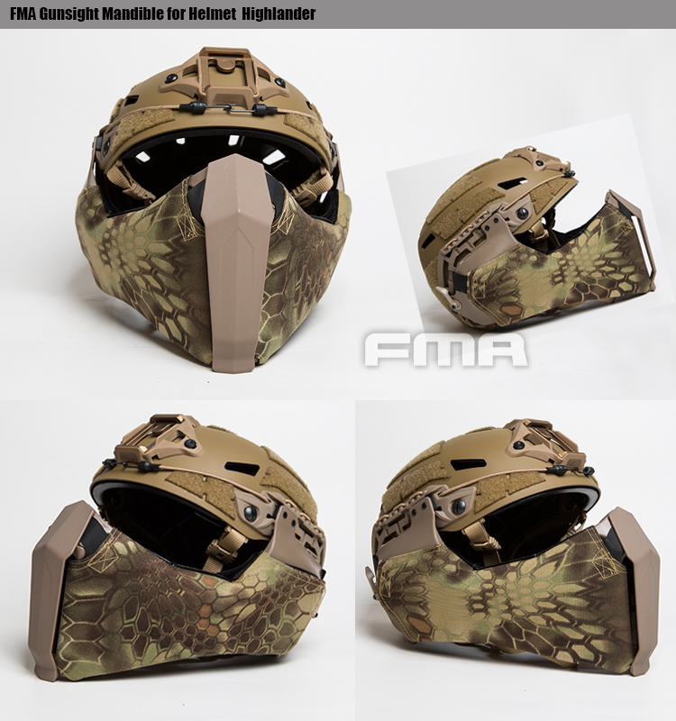 Multicam TB1304-MC FMA Gunsight Mandible For Helmet