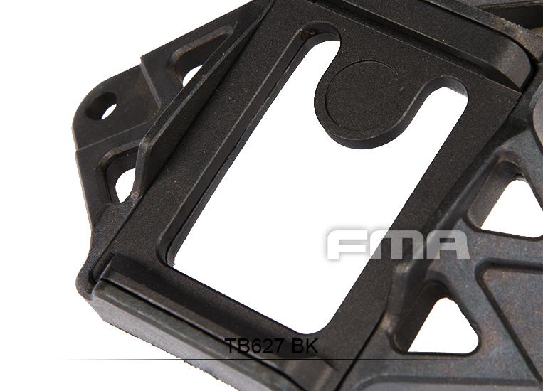 FMA Helmet Mount Wilcox 3 Hole Shroud P//N Black //DE TB627